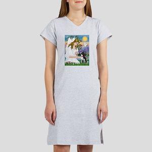 Angel Love / Boston Terrier 3 Women's Nightshirt