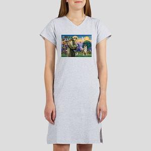 Saint Francis & Boxer Women's Nightshirt
