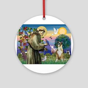 Saint Francis & Boxer Ornament (Round)