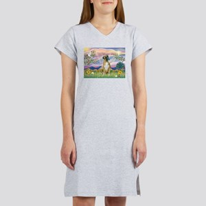 Cloud Angel & Boxer Women's Nightshirt