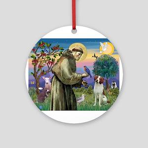 St Francis / American Brittan Ornament (Round)