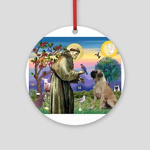 Saint Francis / Bullmastiff Ornament (Round)