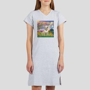 Cloud Angel /Bull Terrier Women's Nightshirt