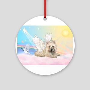 Angel / Cairn Terrier Ornament (Round)