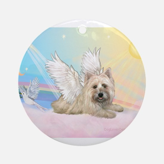 Angel / Cairn Terrier Ornament (Round)