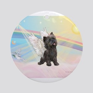 Angel / Cairn Terrier (brin) Ornament (Round)