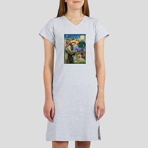 St Francis / Cairn Terrier Women's Nightshirt