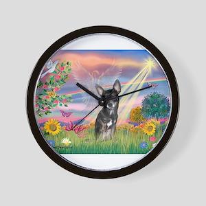 Cloud Angel / Chihuahua (bl) Wall Clock