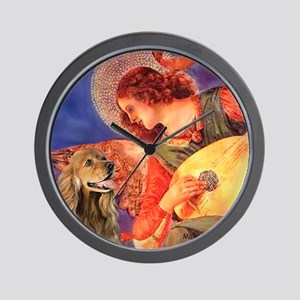 Mandolin Angel / Cocker (brn) Wall Clock