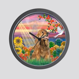 Autumn Angel / Cocker (brn) Wall Clock