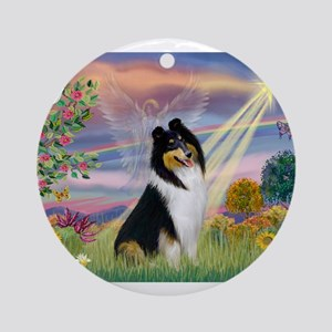 Cloud Angel / Collie Ornament (Round)