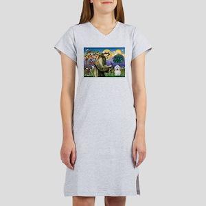St Francis / Coton de Tulear Women's Nightshirt