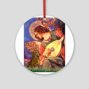 Mandolin Angel / Dach (brn sh Ornament (Round)