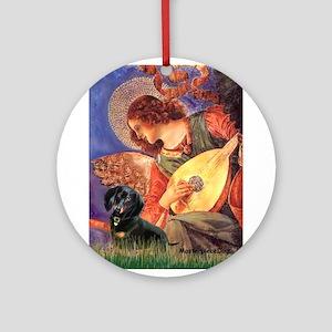 Mandolin Angel / Dachshund (B Ornament (Round)