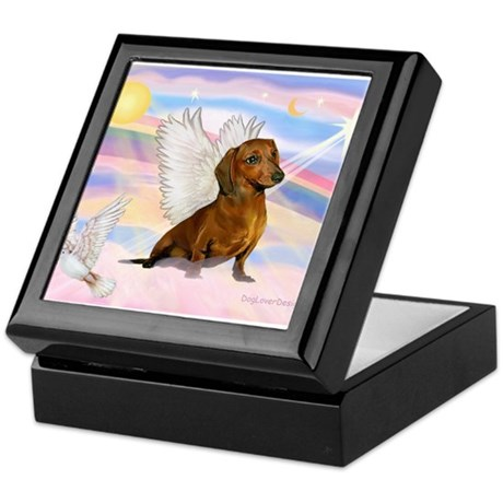 Dachshund / Angel (br) Keepsake Box