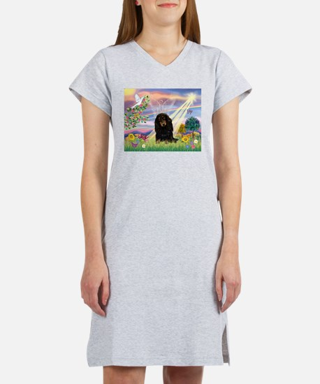Cloud Angel /Dachshund Women's Nightshirt