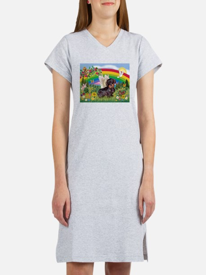 Rainbow Bright / Dachshund (w Women's Nightshirt