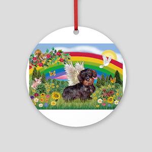 Rainbow Bright / Dachshund (w Ornament (Round)
