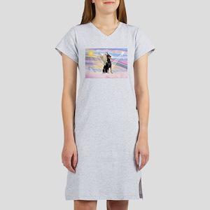 Dobie Angel in Clouds Women's Nightshirt