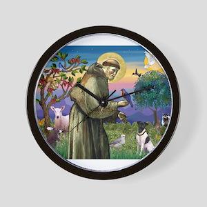 Saint Francis / Smooth Fox Te Wall Clock