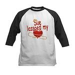 Sue Lassoed My Heart Kids Baseball Jersey