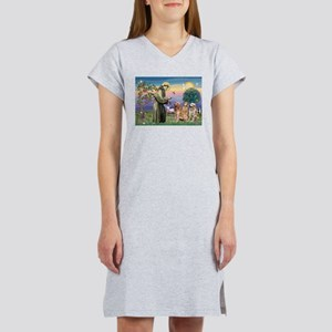 St Francis / 3 Goldens Women's Nightshirt