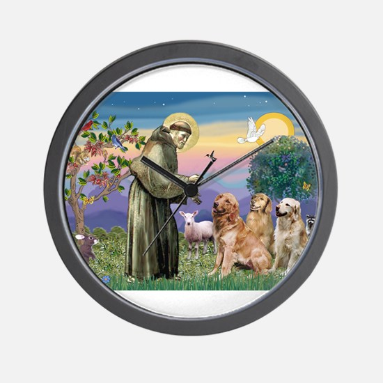 St Francis / 3 Goldens Wall Clock