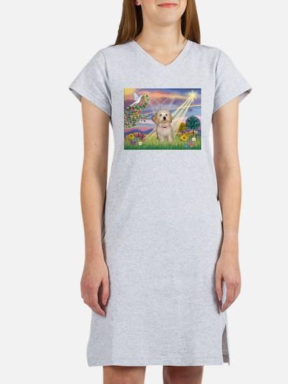 Cloud Angel /Havanese pup Women's Nightshirt