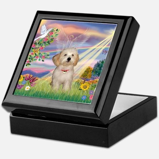 Cloud Angel /Havanese pup Keepsake Box