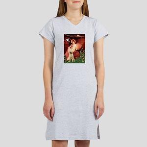 Seated Angel/Spinone Women's Nightshirt