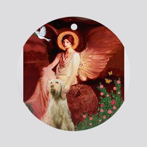 Seated Angel/Spinone Ornament (Round)