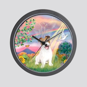 Cloud Angel / JRT puppy Wall Clock