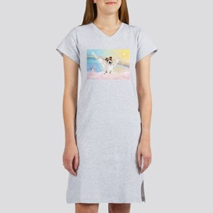 Angel /Jack Russell Terrier Women's Nightshirt