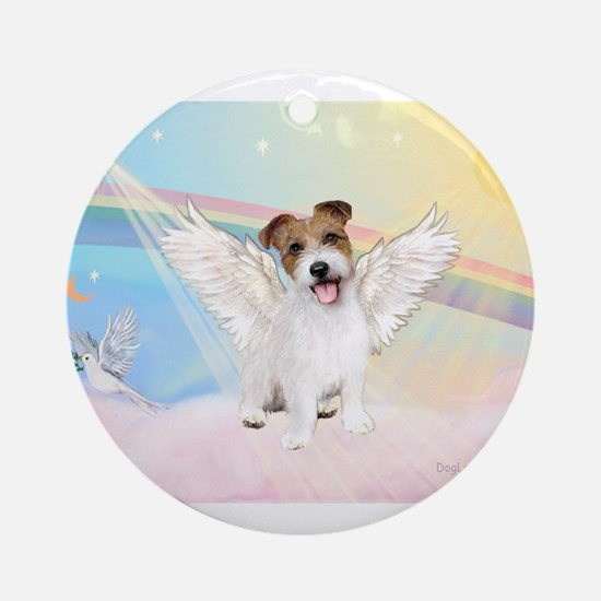 Angel /Jack Russell Terrier Ornament (Round)