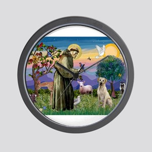 St Francis / Lab (y) Wall Clock