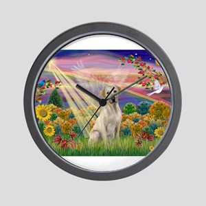 Autumn Angel / Lab (y) Wall Clock