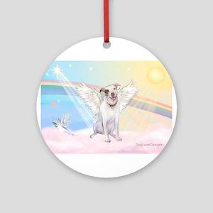 Dog Angel / Pit Bull Ornament (Round)