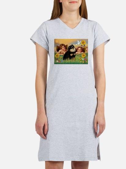 Cherubs /Pomeranian (b&t) Women's Nightshirt