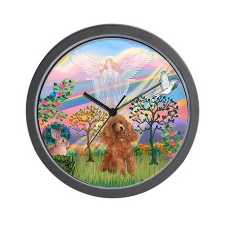 Cloud Angel/Poodle (Apricot) Wall Clock