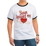 Susan Lassoed My Heart Ringer T