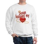 Susan Lassoed My Heart Sweatshirt