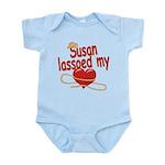 Susan Lassoed My Heart Infant Bodysuit