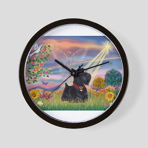 Cloud Angel & Scotty Wall Clock