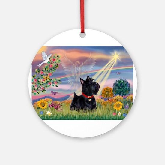 Cloud Angel & Scotty Ornament (Round)