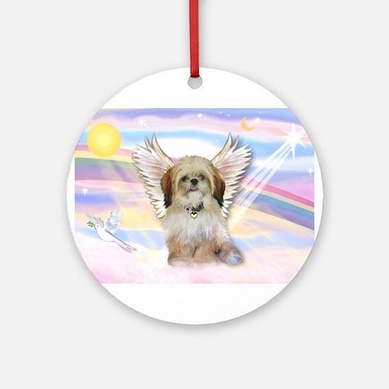Shih Tzu / Angel Ornament (Round)