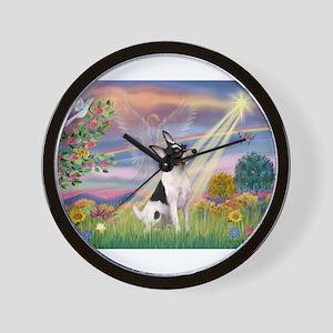 Cloud Angel /Toy Fox Terrier Wall Clock