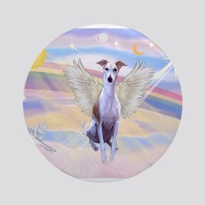 Clouds / Whippet Ornament (Round)