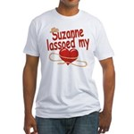 Suzanne Lassoed My Heart Fitted T-Shirt