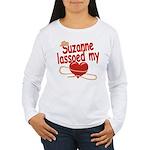 Suzanne Lassoed My Heart Women's Long Sleeve T-Shi