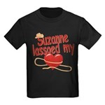 Suzanne Lassoed My Heart Kids Dark T-Shirt